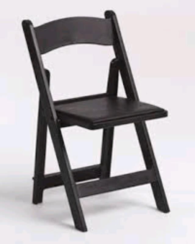 Where to find GARDEN FOLDING CHAIR-BLACK RESIN in Kansas City