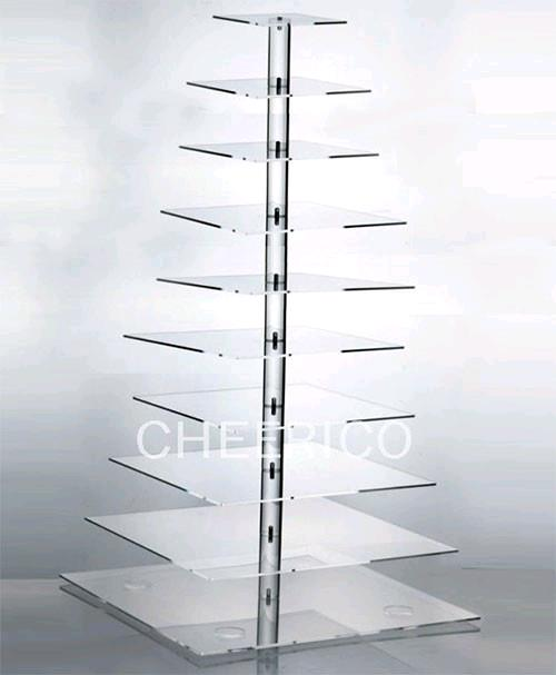 CLEAR SQUARE 5 TIER CUPCAKE STAND Rentals Kansas City KS Where To