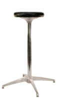 Rental store for BAR STOOL PEDESTAL - BLACK LEATHER SEAT in Kansas City KS
