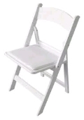 Rental store for CHAIR WHITE RESIN FOLDING in Kansas City KS