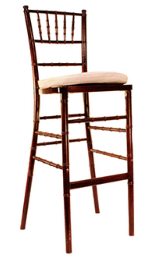 Where to rent BAR STOOL MAHOGANY CHIAVARI in Lenexa, Kansas City KS, Overland Park KS, Lee's Summit MO, Shawnee KS, Olathe KS, Kansas City MO