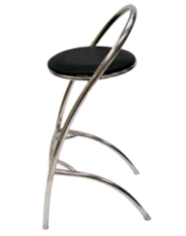 Where to find BAR STOOL CHROME WITH LEATHER CUSHION in Kansas City