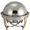 Rental store for CHROME AND BRASS 6QT ROLLTOP CHAFER in Kansas City KS