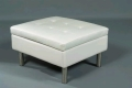 Rental store for WHITE LEATHER OTTOMAN in Kansas City KS