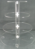 Rental store for CLEAR ROUND 3 TIER CUPCAKE STAND 8  TOP in Kansas City KS