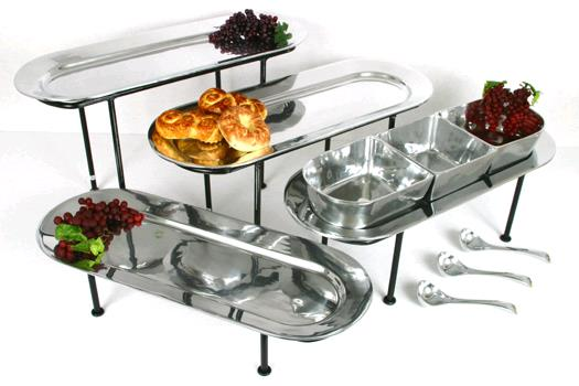 Where to rent PEWTER TRAY 10X16 W  STAND in Kansas City KS, Overland Park KS, Lenexa, Lee's Summit MO, Shawnee KS, Olathe KS, Kansas City MO