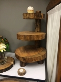 Rental store for WOODEN 3 TIER CUPCAKE STAND in Kansas City KS