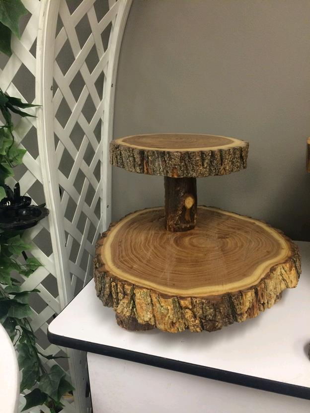 Where to rent WOODEN 2 TIER CAKE STAND in Lenexa, Kansas City KS, Overland Park KS, Lee's Summit MO, Shawnee KS, Olathe KS, Kansas City MO