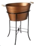 Rental store for COPPER TUB ROUND SMALL W  STAND in Kansas City KS