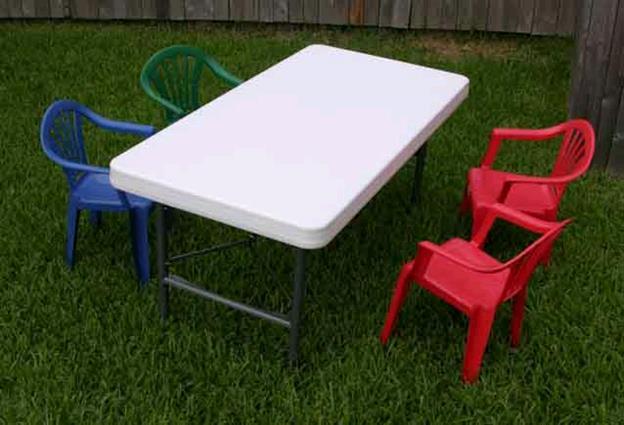 Childrens Table 4x2 Plastic Rentals Kansas City Ks Where