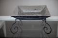 Rental store for PEWTER CLAM BOWL 2 TIER W  STAND in Kansas City KS