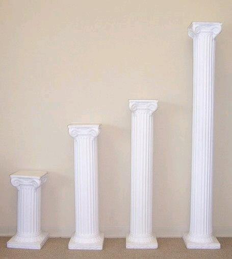 Where to rent 3FT WHITE ROMAN COLUMN in Lenexa, Kansas City KS, Overland Park KS, Lee's Summit MO, Shawnee KS, Olathe KS, Kansas City MO
