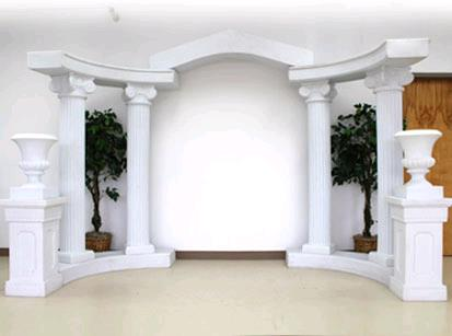 Where to rent WHITE ROMAN ARCH STRAIGHT PIECE in Lenexa, Kansas City KS, Overland Park KS, Lee's Summit MO, Shawnee KS, Olathe KS, Kansas City MO