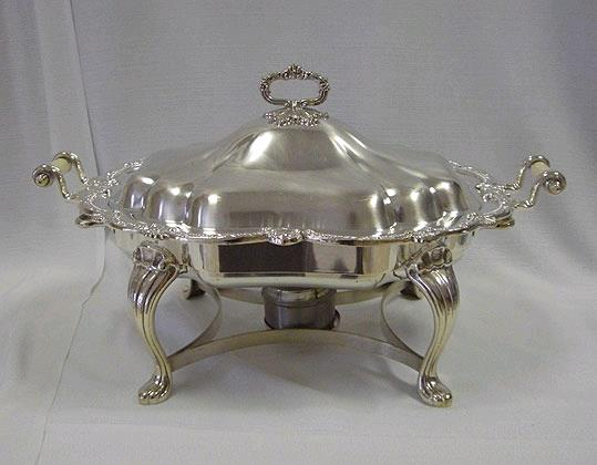 Where to rent SILVER 8QT OVAL CHAFER in Kansas City KS, Overland Park KS, Lenexa, Lee's Summit MO, Shawnee KS, Olathe KS, Kansas City MO