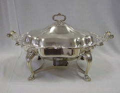 Rental store for SILVER 8QT OVAL CHAFER in Kansas City KS